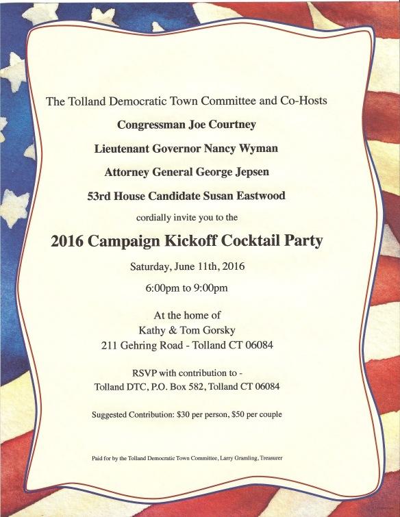 2016 Cocktail Fundraiser Invitation