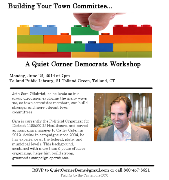 Quiet Corner Democrats Tolland Event