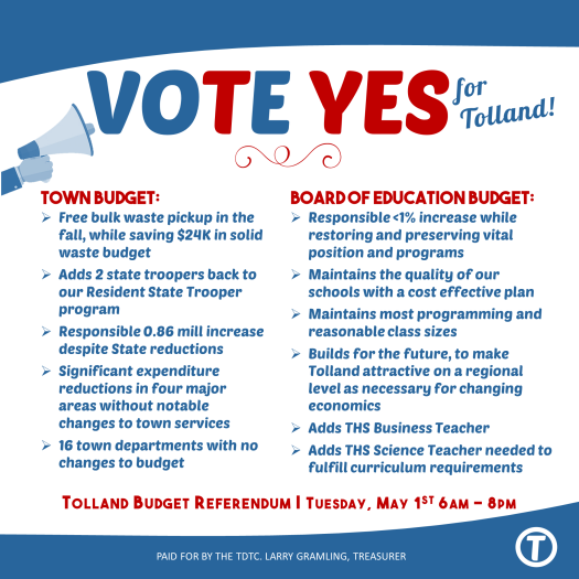 Why vote yes may 1